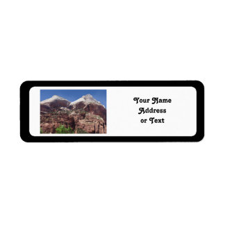 Twin Towers of the Virgin River, Zion Return Address Label