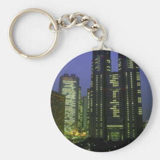 Twin towers of Tokyo's Metropolitan Government, Sh Key Chains
