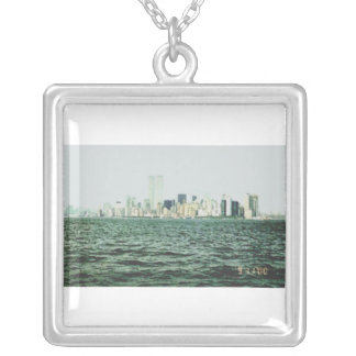 Twin Towers One Year Before 9/11 Silver Plated Necklace