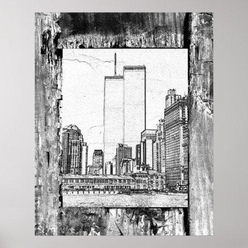 Twin Towers Print