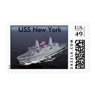 Twin Towers Ship, USS New York, USS New York Postage Stamp