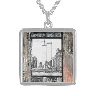 Twin Towers Sterling Silver Necklace