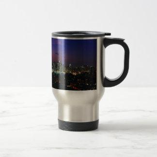 Twin towers travel mug