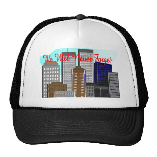"""Twin Towers """"We Will Never Forget""""  NY Hat"""
