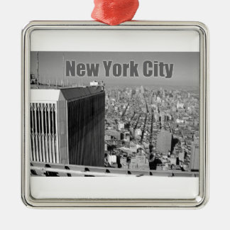 Twin towers World Trade Center NYC Metal Ornament