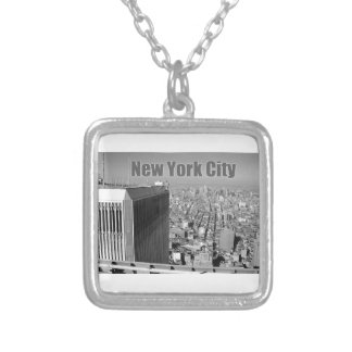 Twin towers World Trade Center NYC Silver Plated Necklace
