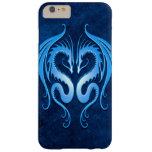 Twin Tribal Dragons, Blue Barely There iPhone 6 Plus Case
