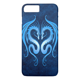 Twin Tribal Dragons, Blue iPhone 7 Plus Case