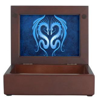 Twin Tribal Dragons, Blue Memory Box