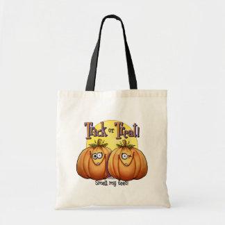 Twin Trick or Treat Pumpkins Canvas Bag