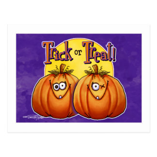 Twin Trick or Treat Pumpkins card