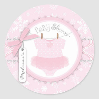 Twin Tutu Polka Dot Jumper & Winter Snowflake Stickers