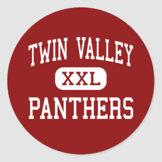 Twin Valley - Panthers - Middle - West Alexandria Classic Round Sticker