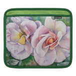Twin watercolor roses sleeves for iPads