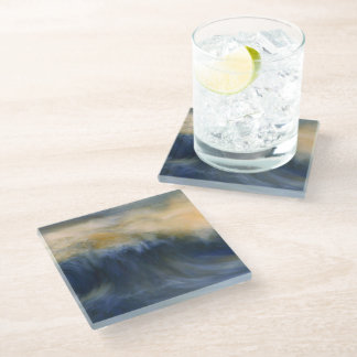 Twin Wave Glass Coaster