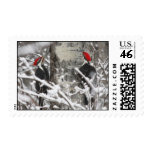 Twin Woodpeckers - Stamp