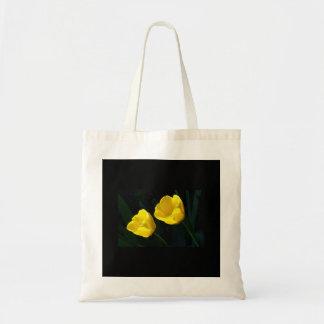 Twin Yellow Tulips Tote Bag