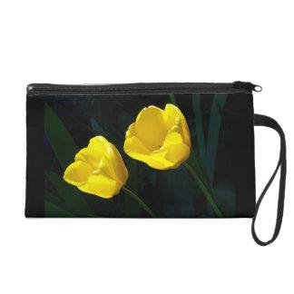 Twin Yellow Tulips Wristlet