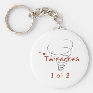 Twinadoes 1 de 2 llavero redondo tipo pin