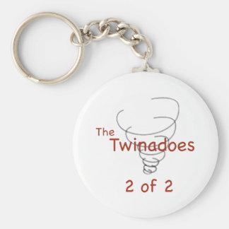 Twinadoes 2 de 2 llavero redondo tipo pin