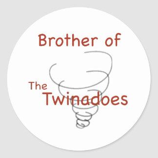 Twinadoes Brother Classic Round Sticker