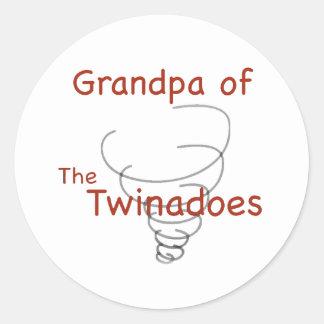 Twinadoes Grandpa Classic Round Sticker