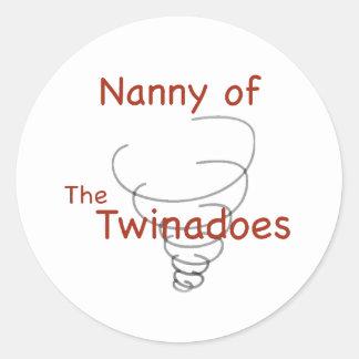 Twinadoes Nanny Classic Round Sticker