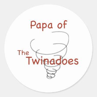 Twinadoes Papa Classic Round Sticker