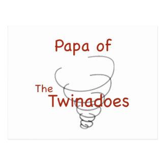 Twinadoes Papa Postcard