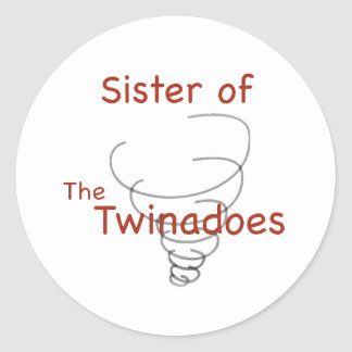 Twinadoes Sister Classic Round Sticker
