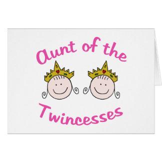 Twincess Aunt Card