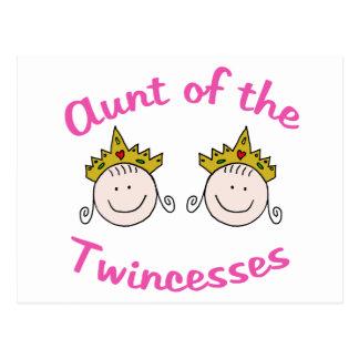 Twincess Aunt Postcard