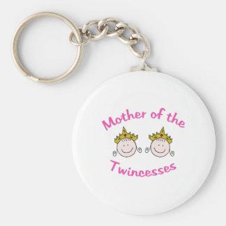Twincess Mother Basic Round Button Keychain