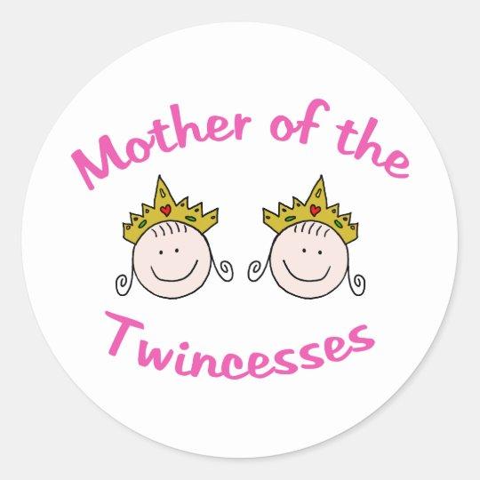 Twincess Mother Classic Round Sticker