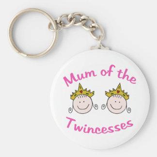 Twincess Mum Basic Round Button Keychain