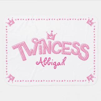 Twincess Twin Girl Baby Blanket (Pink)