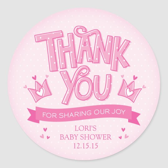 Twincess Twin Girls Baby Shower Thank You Sticker