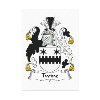 Twine Family Crest Stretched Canvas Print