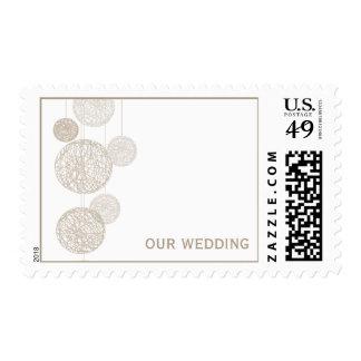 Twine Globes Wedding Stamps