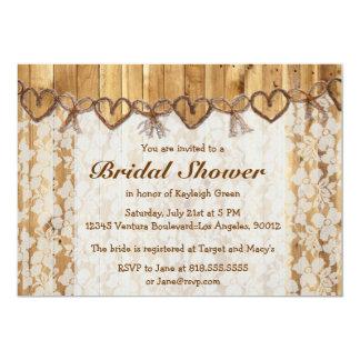 Twine Rustic Lace Wedding Invitation
