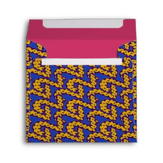 twined 2 envelope - blue/yellow