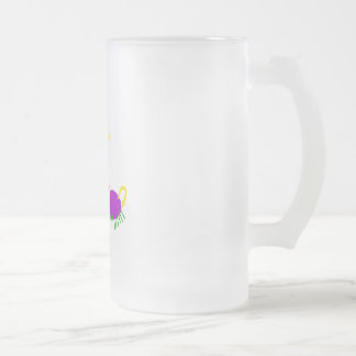 Twingy 16 Oz Frosted Glass Beer Mug