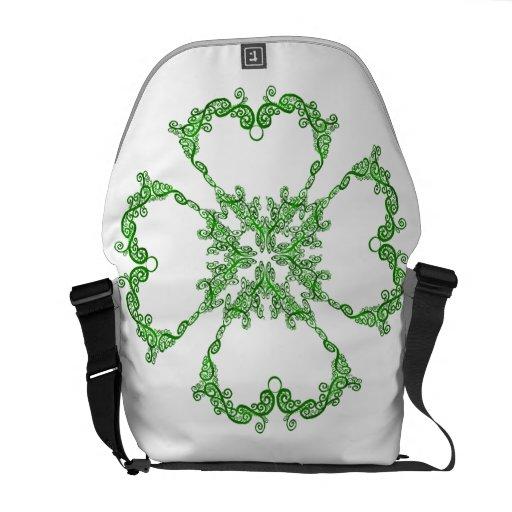 Twining Shamrock Messenger Bag