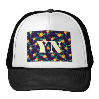 Twining Vines Bright monogram Trucker Hats