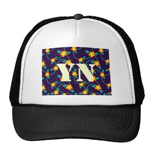 Twining Vines Bright monogram Trucker Hat