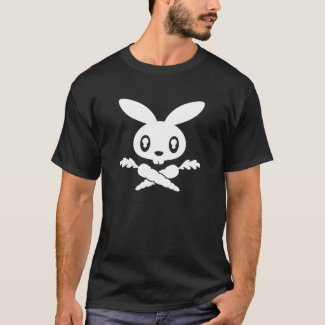 Bunny Skull Adult T-shirt