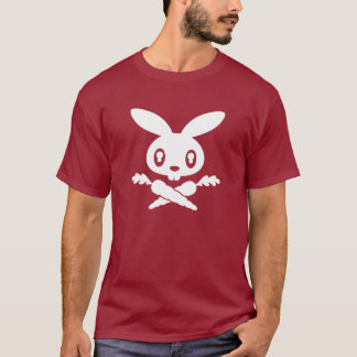 Twink Bunny Skull Adult T-shirt