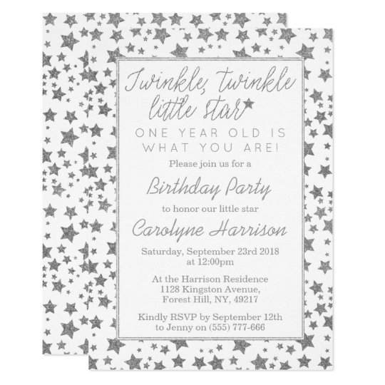Twink, Twinkle Little Star 1st Birthday Invitation