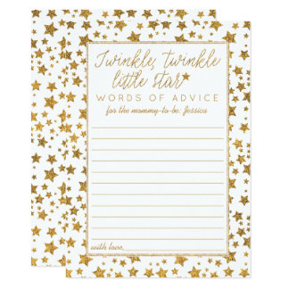 Twink, Twinkle Little Star Baby Shower Advice Card