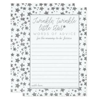 Twink, Twinkle Little Star Baby Shower Advice Card